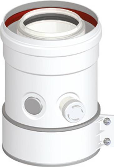 Kesselanschlussstück DN 60/100 PP/AL kompatibel zu Vaillant Brennwertabgassystem Geräte