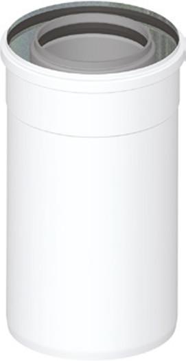 Koaxialabgasrohr DN 60/100 - L: 250 mm PP/AL Brennwertabgassystem
