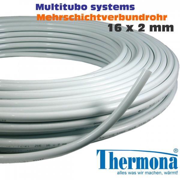 Multitubo Mehrschichtverbundrohr Alu-Verbundrohr 16x2mm ähnl. Uponor od. Alpex