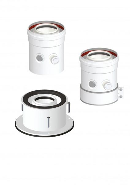Kesselanschlussstück DN 60/100 PP/AL kompatibel zu anderen Herstellern