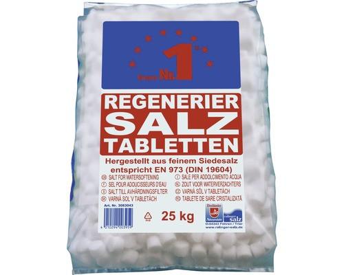 hochreines Siedesalz in Tablettenform zur Regeneration von Wasserenthärtungsanlagen