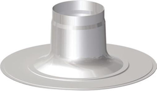 Flachdachpfanne DN 60/100 - 80/125 Universal Abgaszubehör Formteile Brennwertkessel
