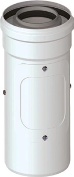 Koaxialrohr mit Revisionsöffnung DN 60/100 Universal Abgaszubehör Formteile Brennwertkessel