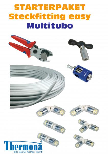 Startpaket Steckfitting Verbundrohr Ring Formteile Heizung Wasser Multitubo
