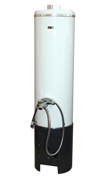 Badeofen LK100 Holz Kohle 100 L weiss komplett mit Mischbatterie ähnl.Wittigsthal